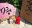 진오비에서 보내준 사홍이 발도장 패키지